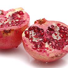 Granatapfel halbiert