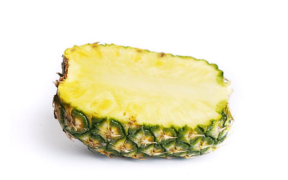 Halbierte Ananas