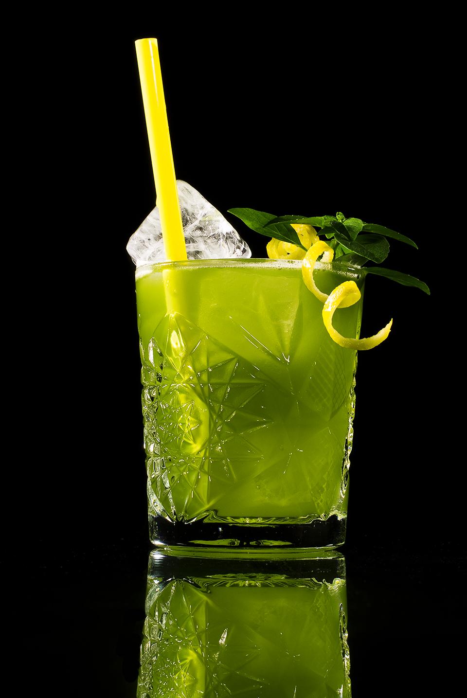 Grüner Gin Basil Smash