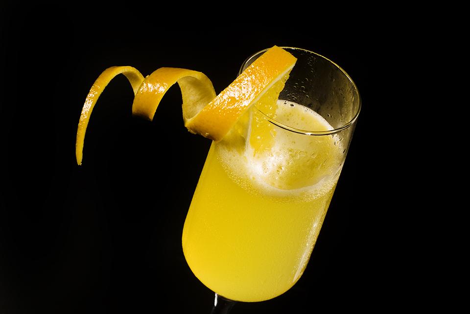 Champagnercocktail Ritz im Sektglas