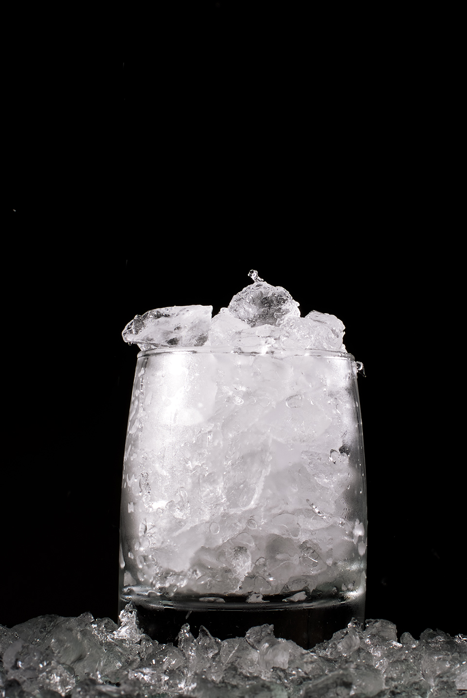 Crushed Ice im kleinen Tumbler