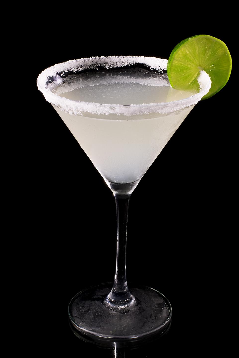 Margaritacocktail von der Seite